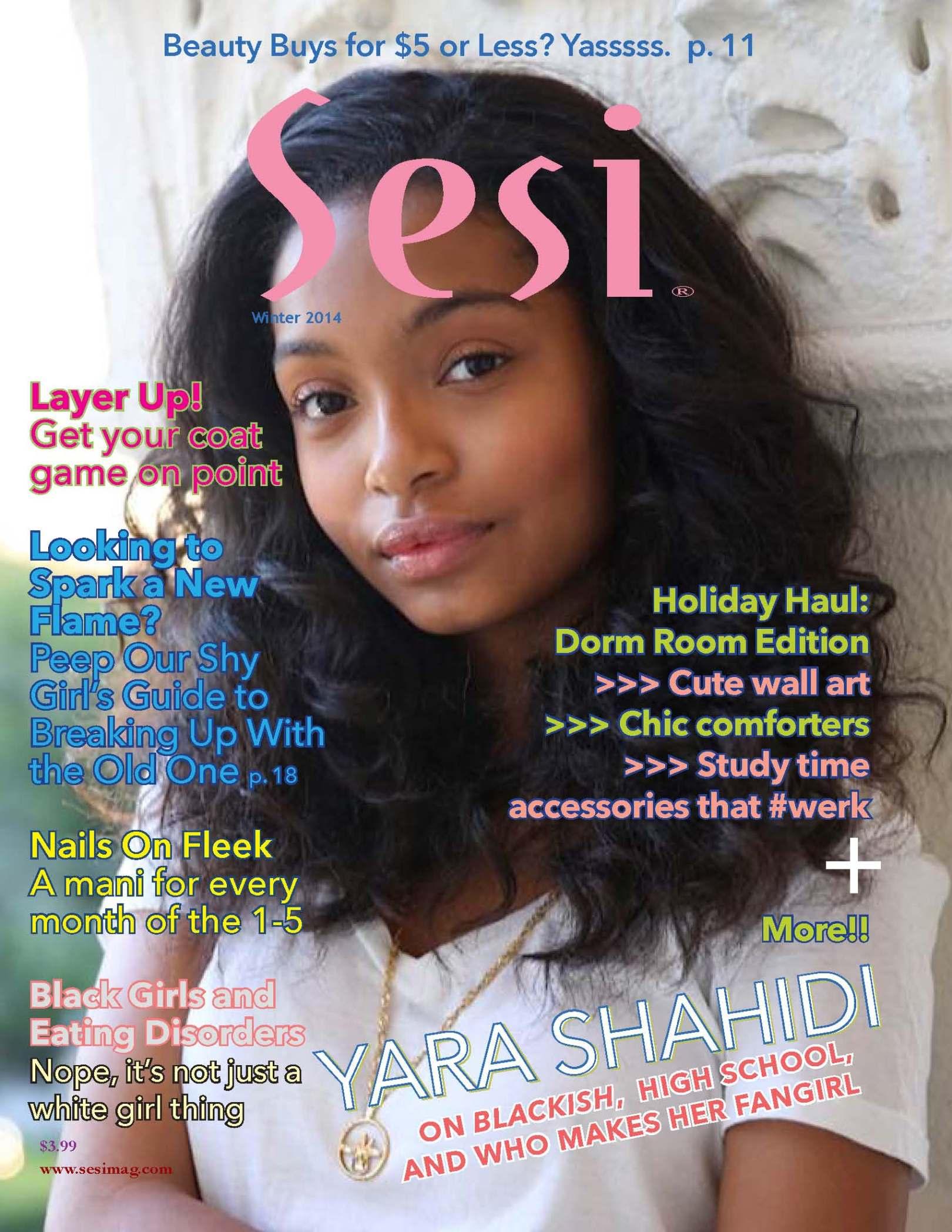 Sesi magazine winter 2014 issue cover with Yara Shahidi