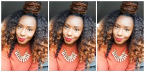 Haute Kinky Hair Brand Ambassador, Carlyne, rockin' HKH extensions